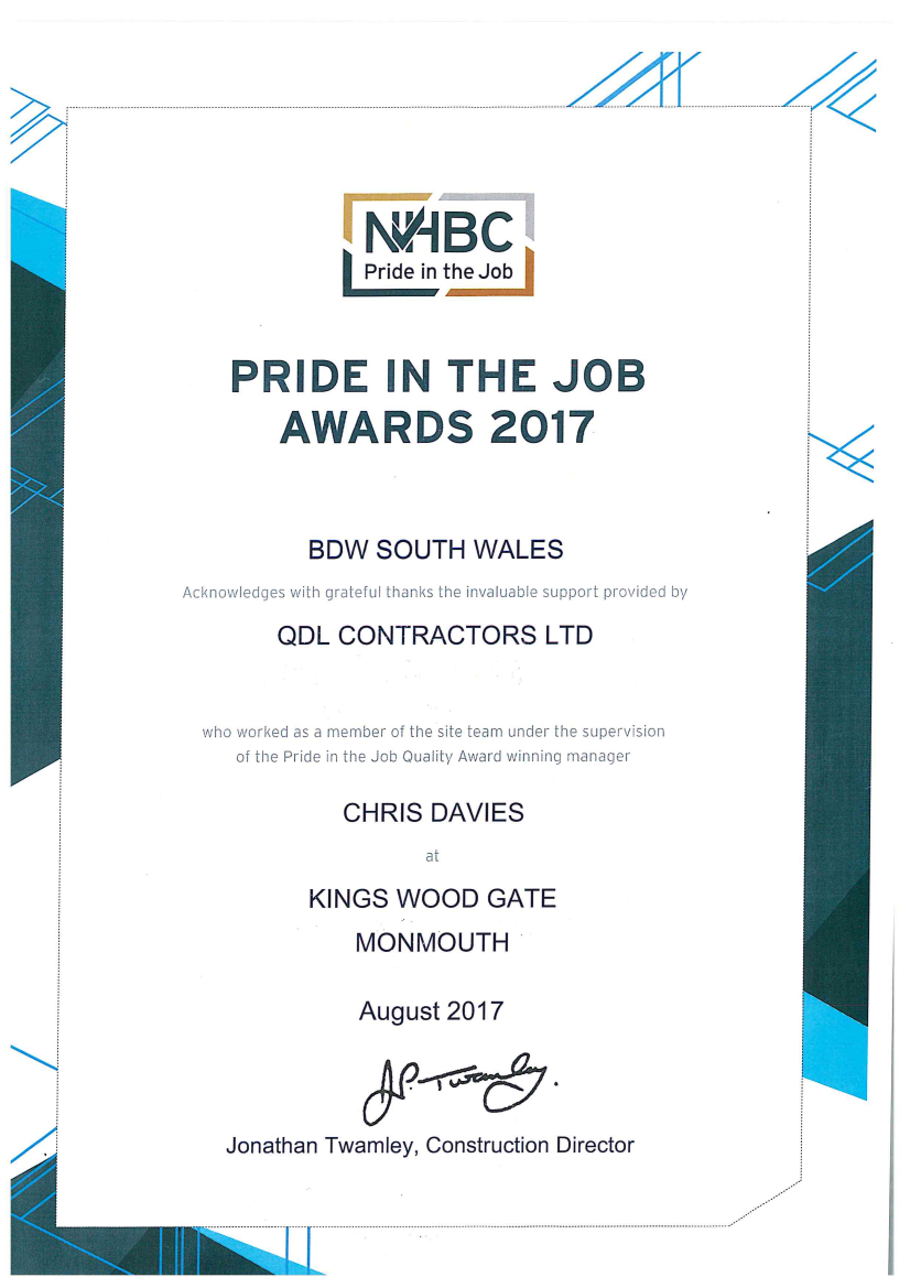 New Build Division receives triple award!