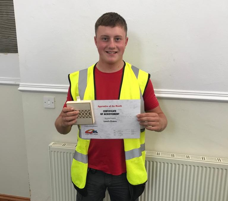 Lewis Evans – August Apprentice of the Month